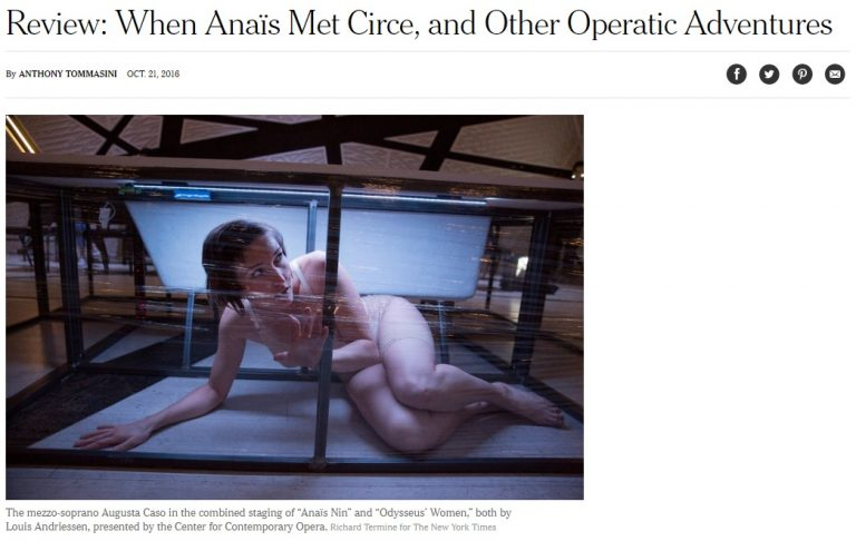 Read more about the article Review New York Times – Odysseus' Women & Anaïs Nin